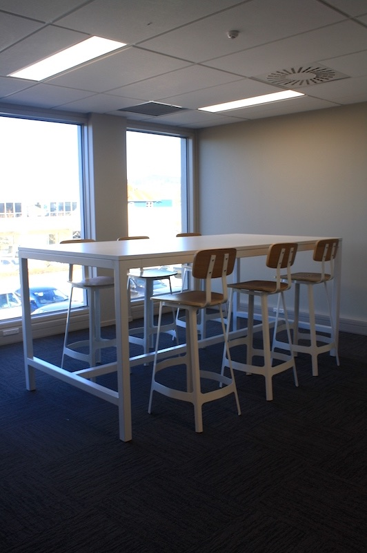Worksafe Table and Chairs-shared office fit out Rotorua