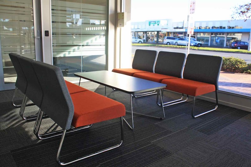 Worksafe Waiting Area Chairs-shared office fit out Rotorua